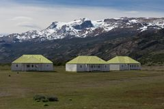 The Farm of Estancia Cristina in Los Glaciares National Park Stock Images