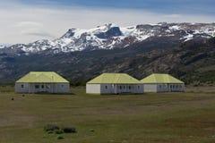 The Farm of Estancia Cristina in Los Glaciares National Park. The estancia cristina on the Lake Argentino, near the upsala glacier, in los glaciares national Stock Images