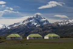 The Farm of Estancia Cristina in Los Glaciares National Park Stock Image