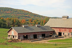 Farm in fall color Royalty Free Stock Images