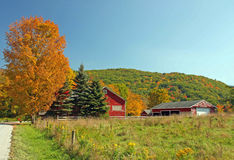 Farm in Fall upstate NY Stock Photography