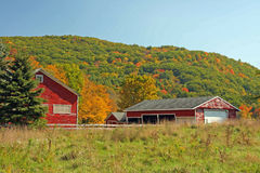 Farm in Fall upstate rural New York Royalty Free Stock Images