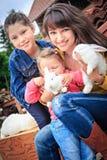 Farm family Stock Photos