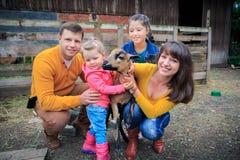 Farm family Royalty Free Stock Image