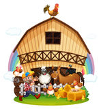 A farm with farm animals Royalty Free Stock Photos