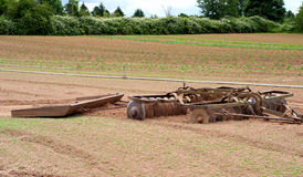 Farm Farm Equipment---a Disc and a Drift Board Royalty Free Stock Photos