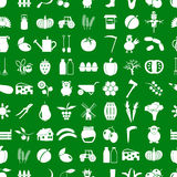 Farm and farming simple icons set vector seamless pattern eps10 Royalty Free Stock Photos