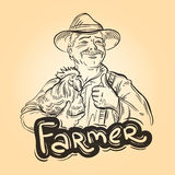 Farm, farming vector logo design template. farmer Stock Photo