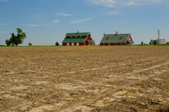 Farm and farmland in the Midwest stock photo