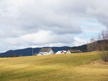 Farm and farmland in Norway Stock Photos