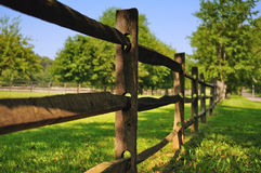 Farm Fence. Wooden fence of a farm Royalty Free Stock Photos