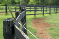 Farm fence Stock Images