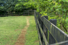 Farm fence Stock Image
