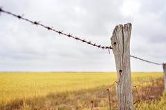 Farm Fence Line Stock Photo