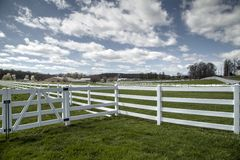 Farm fences Royalty Free Stock Images