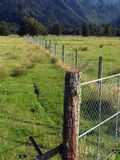 Farm Fences, New Zealand Royalty Free Stock Images