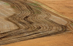 Farm Field Aerial Patterns Royalty Free Stock Photography