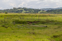 Farm field and hill Royalty Free Stock Images