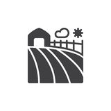 Farm field icon vector, filled flat sign, solid pictogram isolat Stock Photo