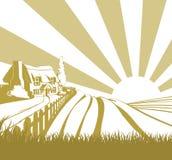 Farm field landscape Royalty Free Stock Photo