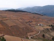Farm Field at Mountainous Area Royalty Free Stock Photos
