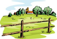 Farm and fields Royalty Free Stock Image