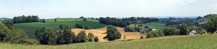 Farm fields stock photography