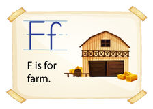 Farm flashcard Stock Images