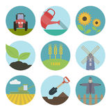 Farm  flat icons Stock Photos