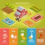 Farm Food Isometric Infographics Royalty Free Stock Photos