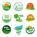 Farm food logo stock photo