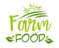 Farm food sticker. Vector illustration for graphic and web design Stock Image