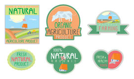 Farm food stickers Stock Photography