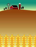 Farm and food themed flyer background Royalty Free Stock Image