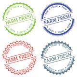 Farm fresh badge isolated on white background. Stock Image