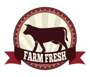 Farm fresh beef label Stock Images
