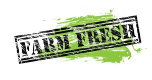 Farm fresh black and green stamp on white background Royalty Free Stock Images