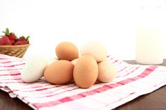 Farm Fresh Breakfast Foods Royalty Free Stock Photos