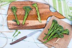Farm fresh broccolini Stock Photos