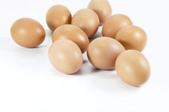 Farm fresh brown chicken eggs. Royalty Free Stock Photos