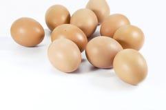 Farm Fresh Brown Chicken Eggs. Royalty Free Stock Photos
