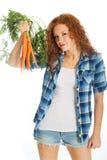 Farm fresh carrots Royalty Free Stock Image