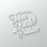 Farm fresh cut paper lettering background Royalty Free Stock Photography