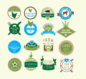 Farm fresh and farm shop and farmed locally logos Royalty Free Stock Photography