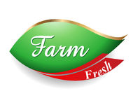 Farm fresh food label, badge or seal Stock Image