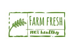 Farm fresh label Logo Designs Inspiration Isolated on White Background. Farm fresh label Logo Designs Inspiration Isolated on White Background royalty free illustration