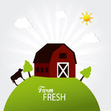 Farm fresh label Royalty Free Stock Photos