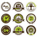 Farm fresh label set Royalty Free Stock Photos