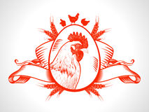 Farm fresh market symbol with hen. Royalty Free Stock Image