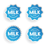 Farm fresh Milk - Full fat label set Stock Image